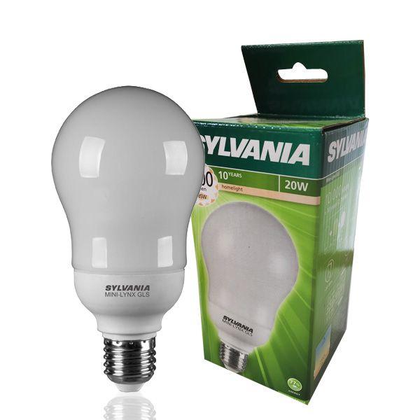 ampoule fluocompacte e27 20w mini lynx standard 2700k. Black Bedroom Furniture Sets. Home Design Ideas