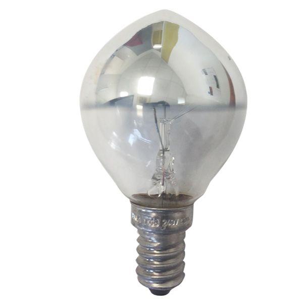 ampoule incandescence sph rique e14 40w calotte argent e. Black Bedroom Furniture Sets. Home Design Ideas
