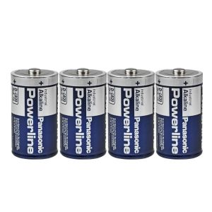 Pack de 4 piles alcalines LR20 1,5V Powerline Panasonic
