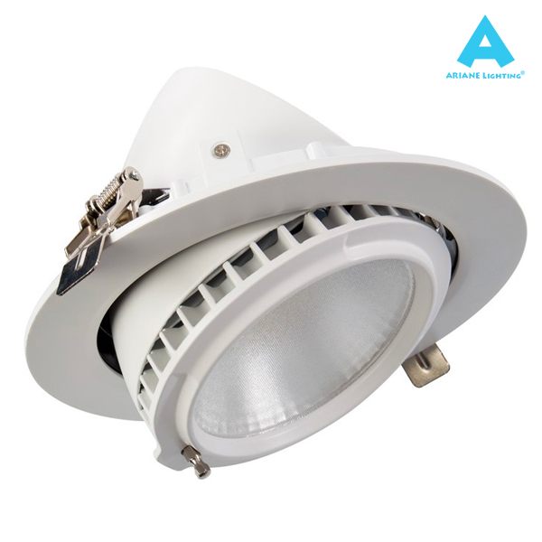 Projecteur LED Rond Orientable 38W 4000K Blanc IP20 Ariane