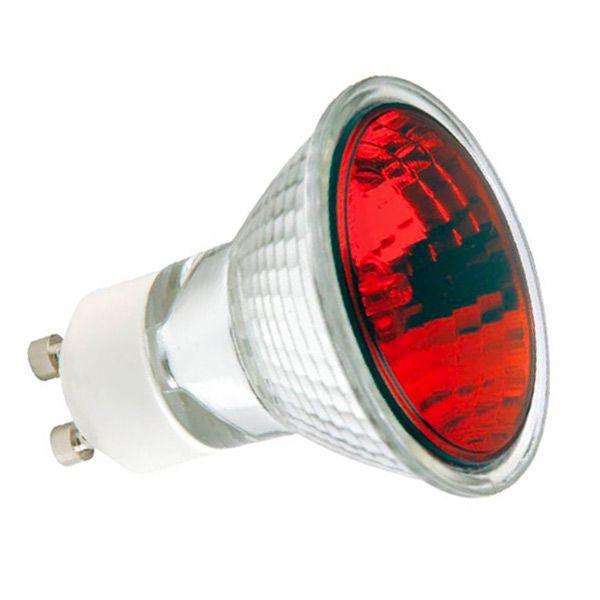 r flecteur halog ne hi spot es50 gu10 50w rouge sylvania ampoules service. Black Bedroom Furniture Sets. Home Design Ideas