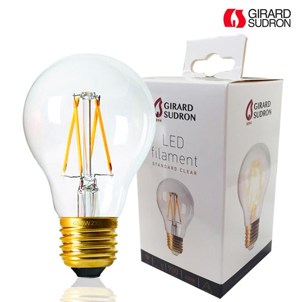 ampoule led à filament e27 8w standard a60 4000k claire dimmable