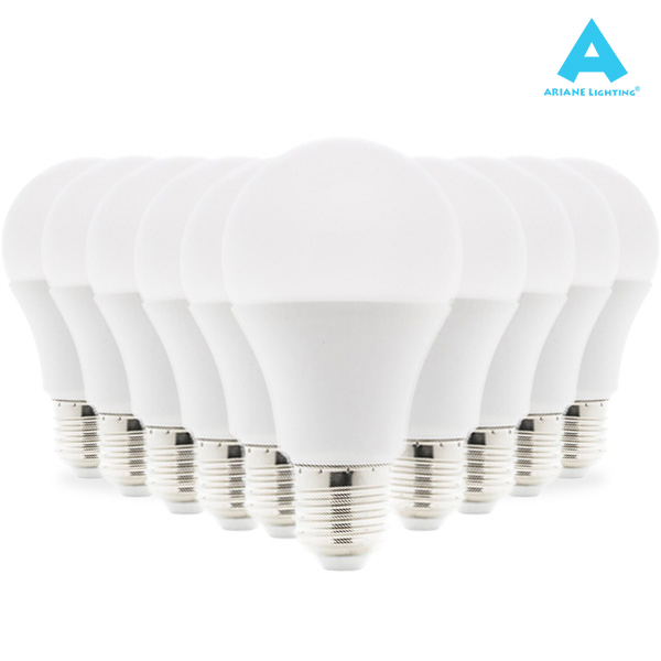 Pack 10 Ampoules LED E27 7W 3000K Standard 603lm Ariane