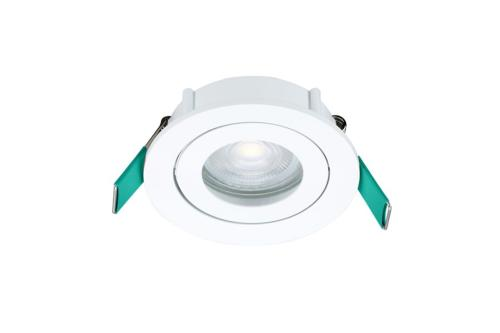 START SPOT LED  KIT ROND 5W 345LM 4000 K  orientable - dimmable  IP44 BLANC