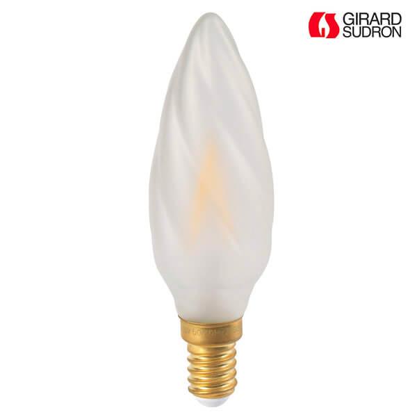 ampoule led filament e14 2w flamme torsad e satin e girard sudron ampoules service. Black Bedroom Furniture Sets. Home Design Ideas