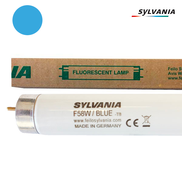 Tube fluorescent G13 T8 58W Couleur Bleu 1500mm Sylvania