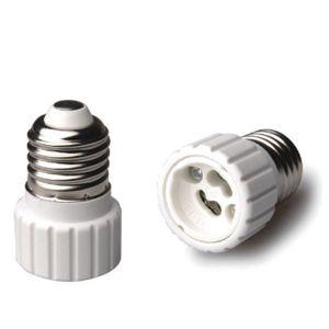 adaptateur douille e27 vers gu10 c ramique blanc girard sudron ampoules service. Black Bedroom Furniture Sets. Home Design Ideas