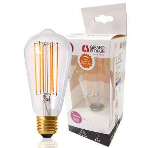ampoule edison filament led droit d64mm 4w e27 2300k claire girard sudron ampoules service. Black Bedroom Furniture Sets. Home Design Ideas