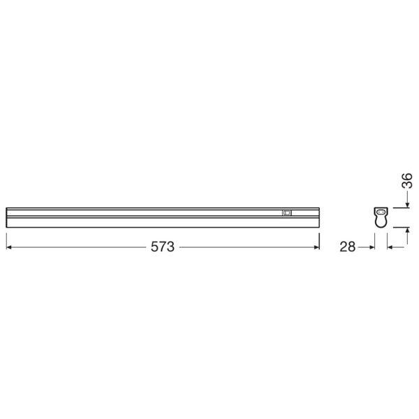 Réglette Linear Led 600mm 8w 800lm 4000k Ledvance Ampoules Service