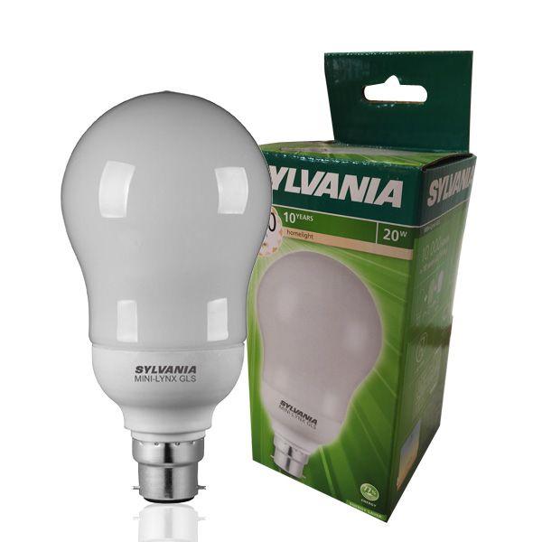 Fluocompacte 2700k Standard 20w Sylvania B22 Mini Ampoule Lynx dEoQxerCBW
