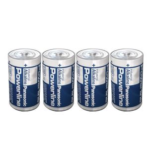 Pack de 4 piles alcalines LR14 1,5V Powerline Panasonic