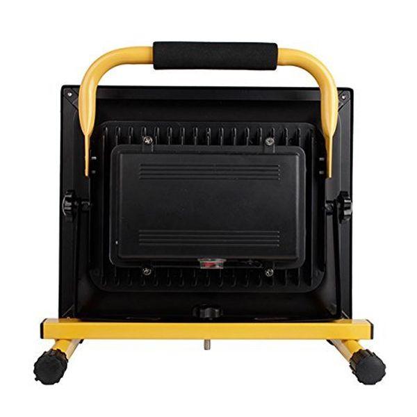 projecteur led portable rechargeable 50w 3200lm ip65 jaune ariane ampoules service. Black Bedroom Furniture Sets. Home Design Ideas
