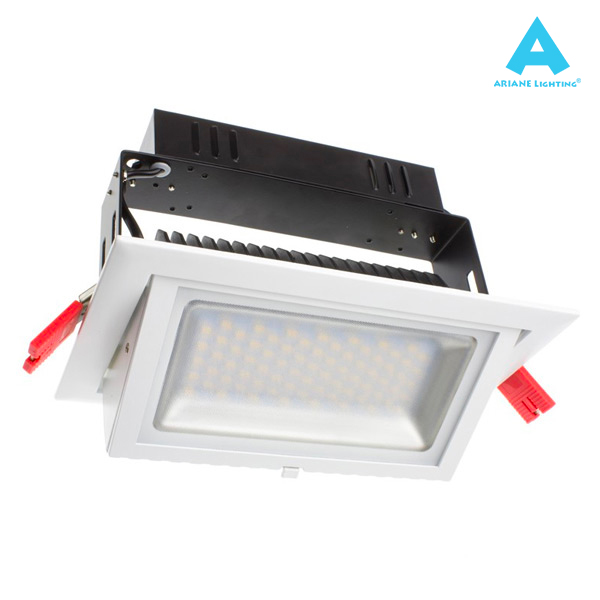 Projecteur LED Rectangulaire Orientable 38W 3000K Blanc IP20 Ariane