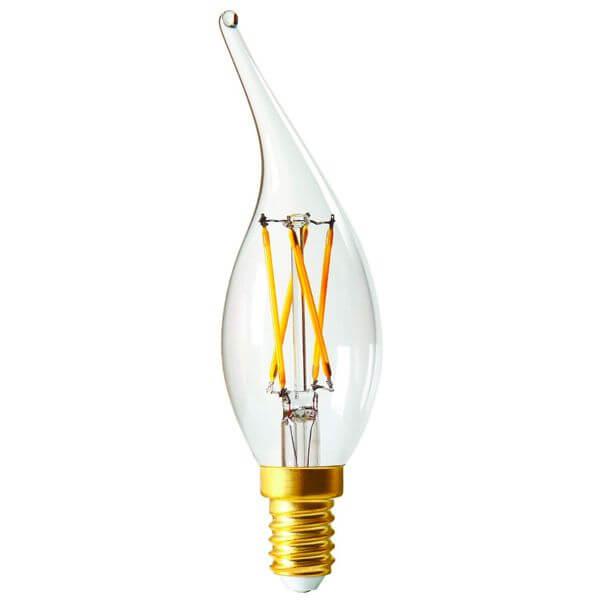 ampoule led filament e14 4w flamme coup de vent claire dimmable girard sudron ampoules service. Black Bedroom Furniture Sets. Home Design Ideas