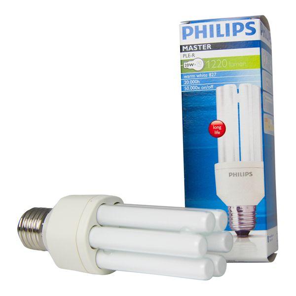 ampoule fluocompacte e27 20w master pl electronic 2700k philips ampoules service. Black Bedroom Furniture Sets. Home Design Ideas