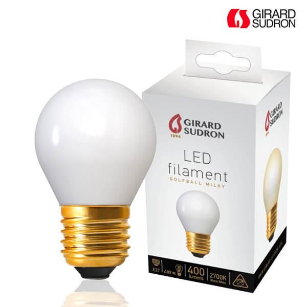 Led Girard À 4w Laiteux Filament Ampoule Sphérique E27 2700k Blanc Sudron Nmn8v0wO