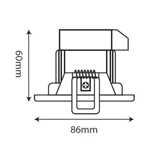 spot encastr led start 5 5w ip20 4000k orientable 35 sylvania ampoules service. Black Bedroom Furniture Sets. Home Design Ideas