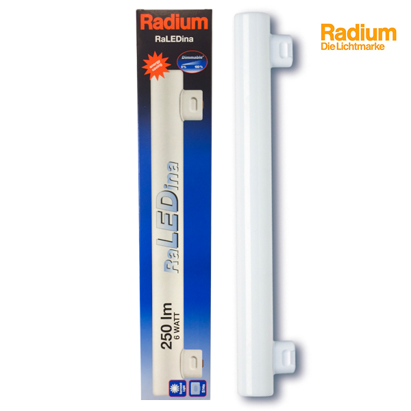 Tube RaLEDina S14S 6W 2700K 300mm Dimmable Radium