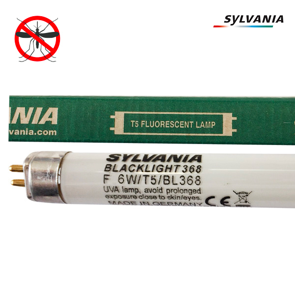Tube fluorescent G5 T5 6W BlackLight BL368 Linear Non Gainé Sylvania