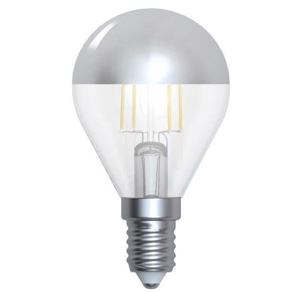 ampoule led filament sph rique e14 4w calotte argent e girard sudron ampoules service. Black Bedroom Furniture Sets. Home Design Ideas