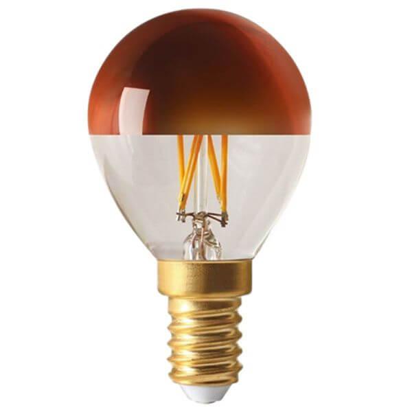 ampoule filament led e14 4w sph rique calotte bronze dimmable girard sudron ampoules service. Black Bedroom Furniture Sets. Home Design Ideas