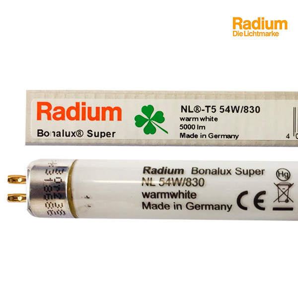 Pack de 5 Tubes fluorescents G5 T5 54W Bonalux Super 3000K Radium