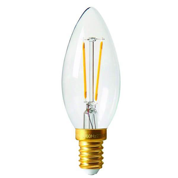 ampoule led filament e14 2w flamme lisse c35 claire girard sudron ampoules service. Black Bedroom Furniture Sets. Home Design Ideas