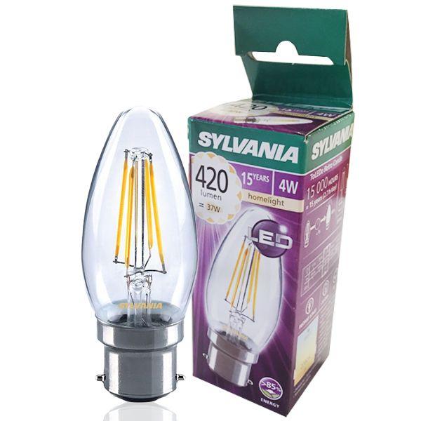 B22 Ampoule Claire Filament Toledo Retro Sylvania À Flamme Led 4w sQCdthr