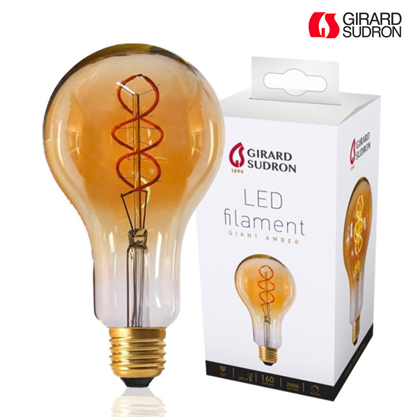 Ampoule LED Géante Filament TWISTED E27 4W Ambrée Dimmable Girard Sudron