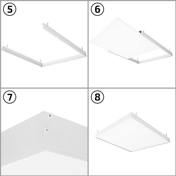 kit en saillie pour panneau led 120 x 60cm ariane ampoules service. Black Bedroom Furniture Sets. Home Design Ideas