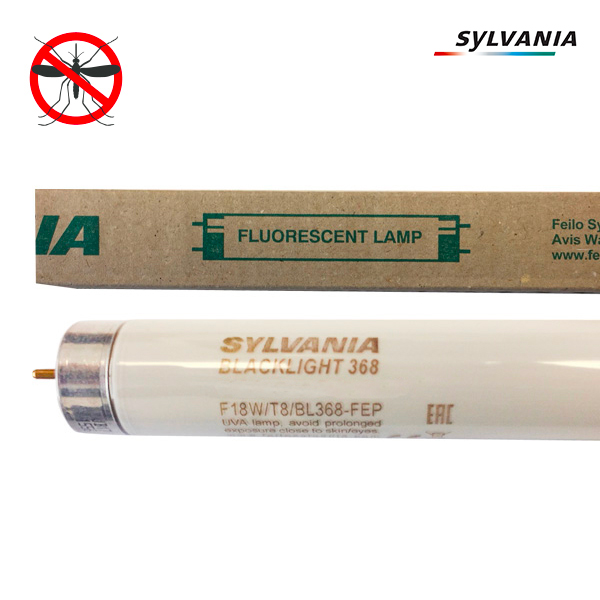 Tube fluorescent G13 T8 18W BlackLight BL368 Linear non Gainé Sylvania