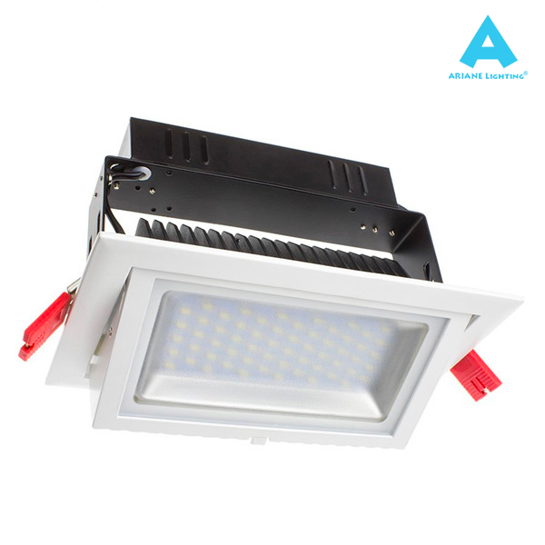 Projecteur LED Rectangulaire Orientable 28W 3000K Blanc IP20 Ariane