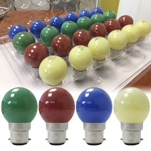 24 incandescent bulb pack B22 15W Spherical Color + 4 free