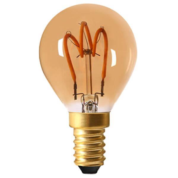 ampoule led filament e14 2w sph rique loops ambr e girard sudron ampoules service. Black Bedroom Furniture Sets. Home Design Ideas