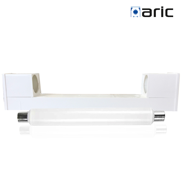 Applique Normaric B52 blanche simple avec lampe S19 LED 9W 2700K
