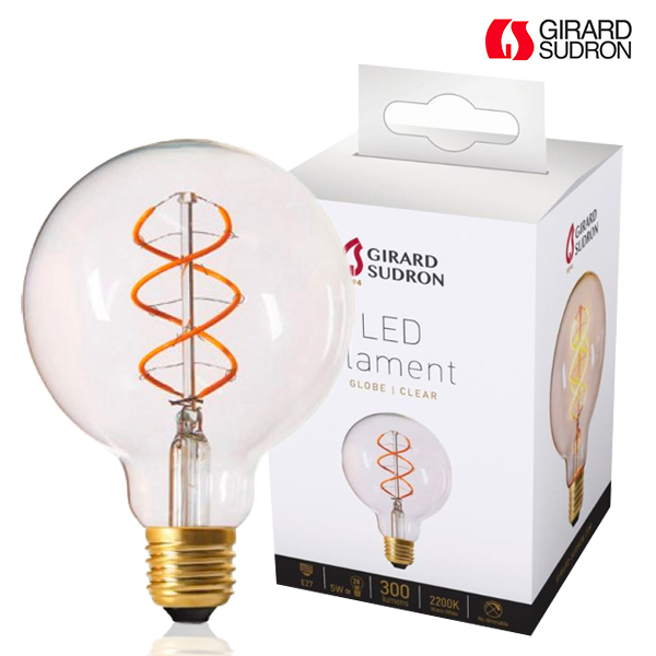 Globe à Filament LED TWISTED E27 5W D95 Claire Girard Sudron