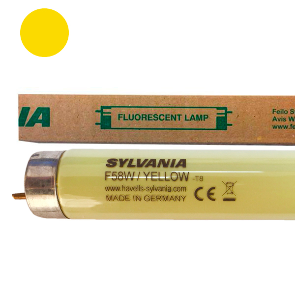 Tube fluorescent G13 T8 58W Couleur Jaune 1500mm Sylvania