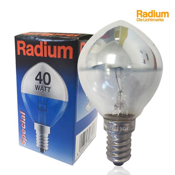 ampoule incandescence sph rique e14 40w calotte argent e radium ampoules service. Black Bedroom Furniture Sets. Home Design Ideas
