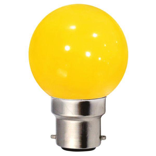 ampoule incandescence b22 sph rique 15w jaune ariane ampoules service. Black Bedroom Furniture Sets. Home Design Ideas