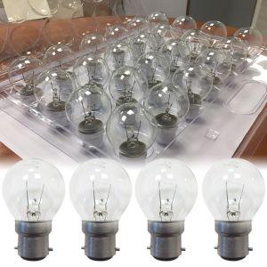 pack de 24 ampoules incandescentes b22 15w sph rique claire ariane ampoules service. Black Bedroom Furniture Sets. Home Design Ideas