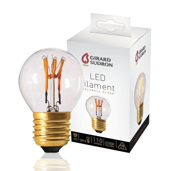 ampoule led filament e27 2w sph rique loops claire girard sudron ampoules service. Black Bedroom Furniture Sets. Home Design Ideas