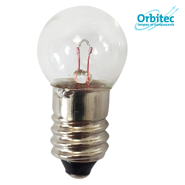 Ampoule à incandescence E10 Krypton 2.7W 6V 17x30mm Orbitec