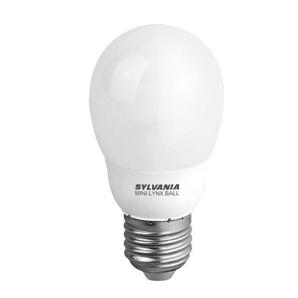 ampoule fluocompacte e27 9w mini lynx sph rique 2700k sylvania ampoules service. Black Bedroom Furniture Sets. Home Design Ideas