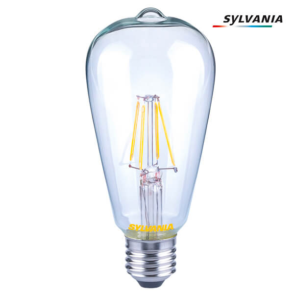 ampoule edison à filament led toledo retro v2 e27 7w dimmable claire