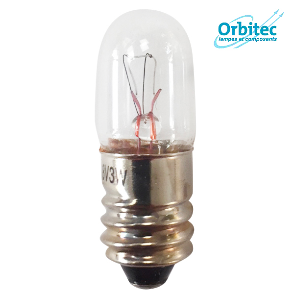 Ampoule à incandescence E10 3W 18V 10x28mm Orbitec