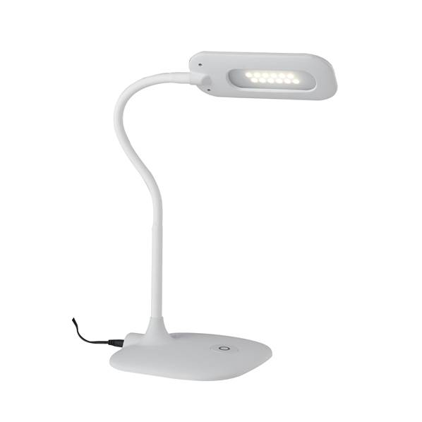 Lampe LED à poser DARWIN 4,8W 450LM 4000K Dimmable Métal et Silicone Blanc