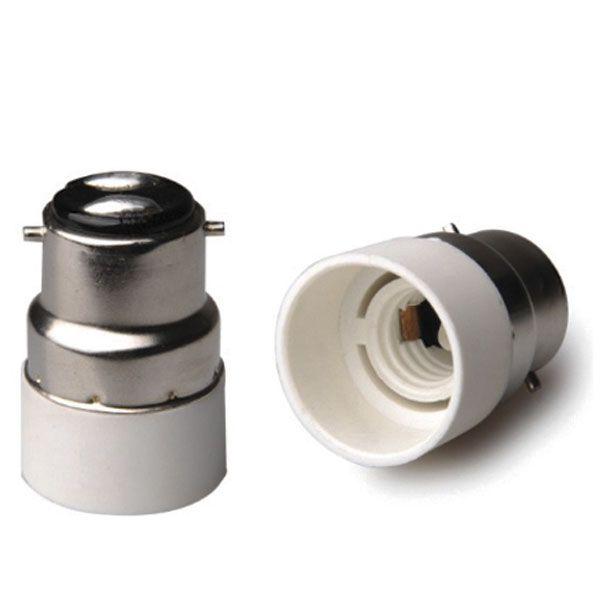 DiCUNO E14 vers B22 Adaptateur de douille de 2 pi/èces Adaptateur de Convertisseur de douille base de lampe de haute qualit/é pour ampoules LED et ampoules /à incandescence et ampoules fluocompactes