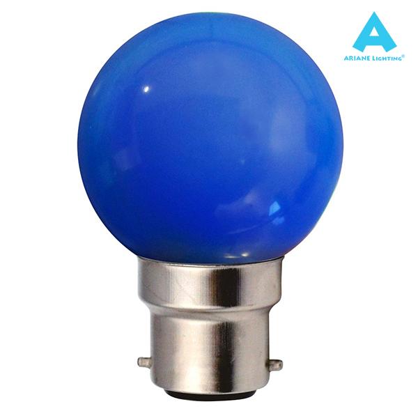 B22 Sphérique 1w Led Ampoule Bleu Ariane iZOuTXPk