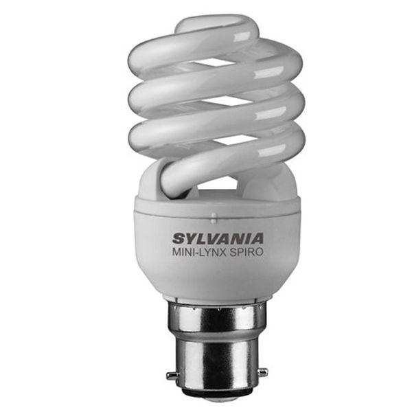 ampoule fluocompacte b22 15w mini lynx fast start spirale 2700k sylvania ampoules service. Black Bedroom Furniture Sets. Home Design Ideas