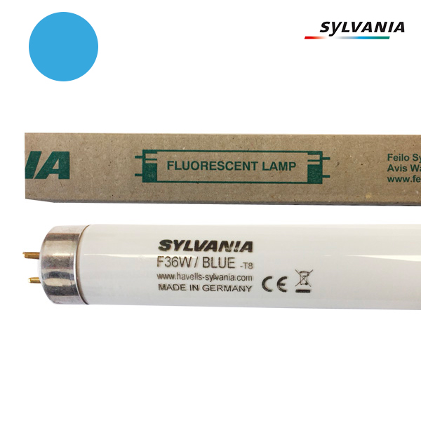 Tube fluorescent G13 T8 36W Couleur Bleu 1200mm Sylvania